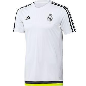 2015-2016 ريال مدريد أديداس قميص التدريب (أبيض)-للأطفال