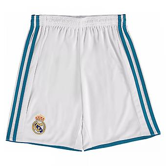 2017-2018 Real Madrid Adidas Home Shorts (alb)-copii