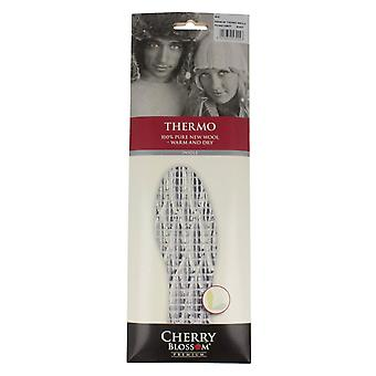 Mens Cherry Blossom Insoles Thermo - White Wool - UK Size M11 - EU Size 46 - US Size 12