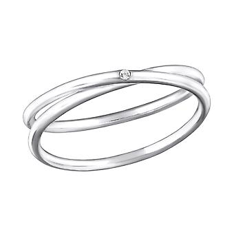 Intertwined - 925 Sterling Silver Jewelled Rings - W32482X