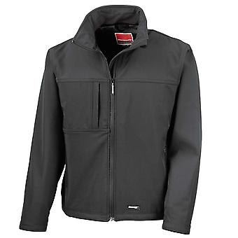 Result Mens Classic Windproof Showerproof Breathable Soft Shell Jacket