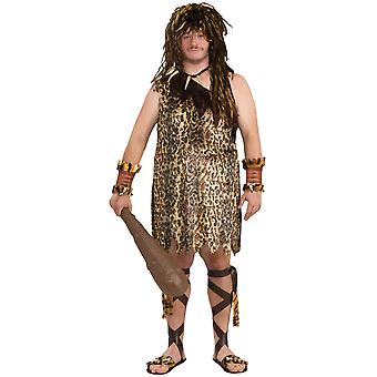 Pierre de grotte préhistorique de Jungle de Tarzan Caveman macho âge Mens Costume Plus