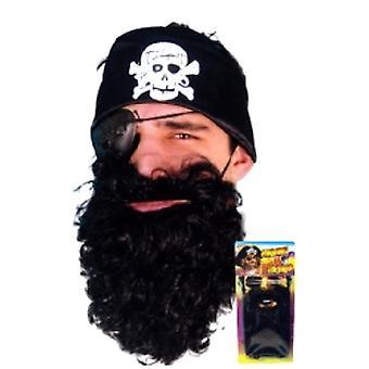 Пират борода черный нейлон Делюкс суконная (количество 1)