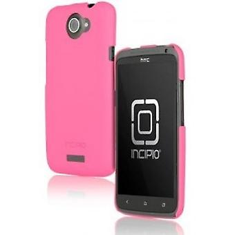 Incipio HT-280 pink feather shine case cover for HTC one X-