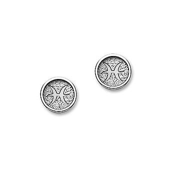 Sterling Silver Traditional Contemporary Astrology Zodiac Sign Design Pair of Earrings - E1858
