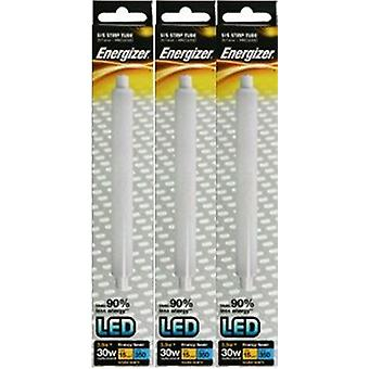 3 X Energizer LED Strip Energy Saving Lightbulb S15 3.5w = 30w 350lm Warm White[Energy Class A++]