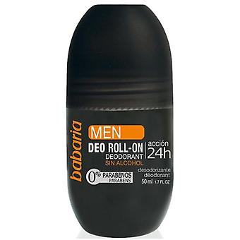 Babaria Deodorant for Men Roll On Action 24 Hours 50 ml