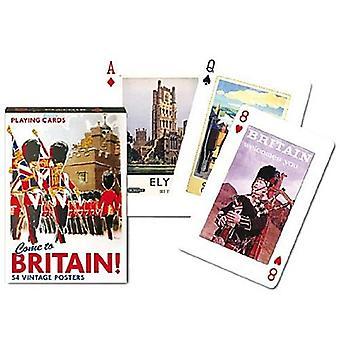 Tullut Britannian joukko pelikortteja + Jokerit
