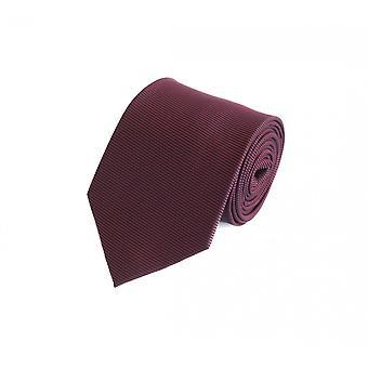 Slips slipsar binder 8CM vin röd svart randig UNI Fabio Farini