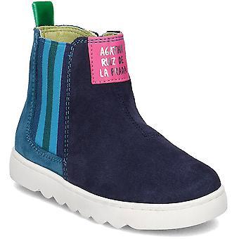 Agatha Ruiz De La Prada 181952 181952AAZULMARINOYLILA zapatos universales para bebés de invierno