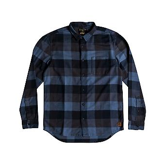 Quiksilver Stretch Flannel Long Sleeve Shirt in Stretchflannelnavy