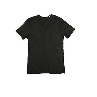 Stedman Mens Shawn V Neck Slub T-Shirt