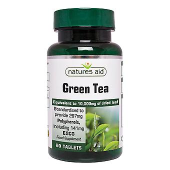 Natures Aid, Green Tea 10,000mg, 60 Tablets