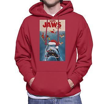 """Santa """"Jaws"""" moletom com capuz a vingança do Natal MASC"""