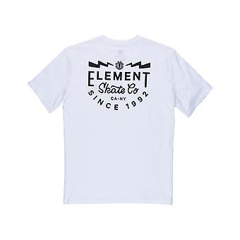 Element Zap Short Sleeve T-Shirt in Optic white