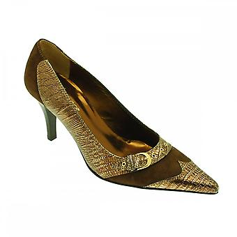 Lorbac Brown Suede With Bronze Metallic