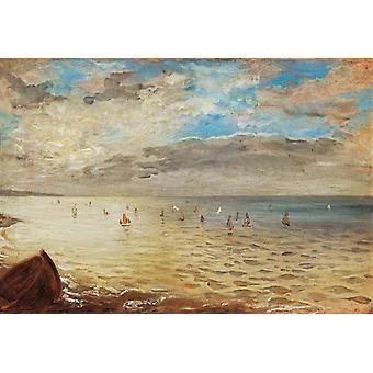 La Mer à Dieppe, Eugène Delacroix, 35x51cm