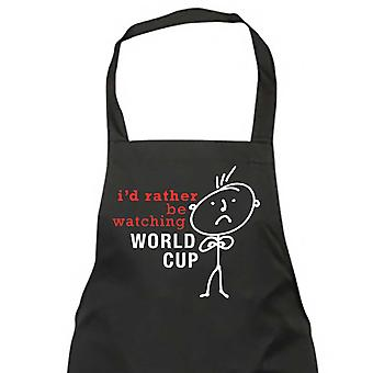 Men's I'd Rather Be Watching The World Cup Black Apron