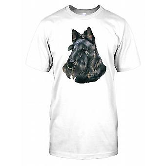 Scottish Terrier ritratto Mens T-Shirt