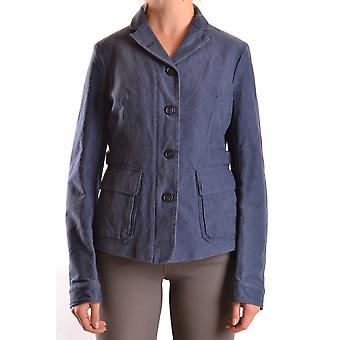 Brema Ezbc146005 Women's Blue Cotton Outerwear Jacket