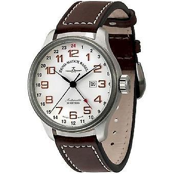 Zeno-Watch Herrenuhr OS Retro (Dual Time) 8563-f2