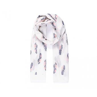 Intrigue Womens/Ladies Repeat Feather Print Scarf