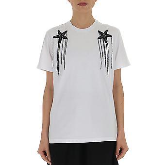 Amen Ams19229001 Kvinnor's Vit bomull T-shirt