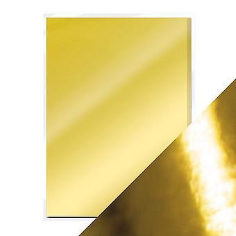 Handwerk perfekte A4 Hochglanz Spiegel Karte poliert Gold Tonic Studios