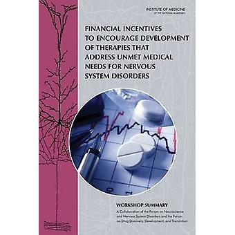 Financial Incentives to Encourage Development of Therapies That Addre