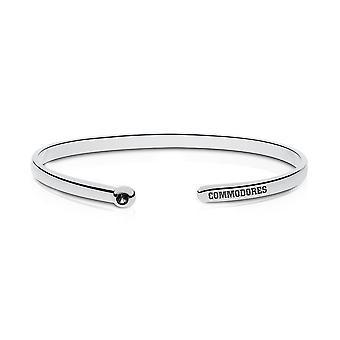 Vanderbilt University Engraved Sterling Silver Black Onyx Cuff Bracelet
