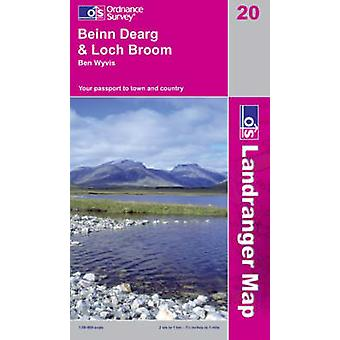 Beinn Dearg and Loch Broom - Ben Wyvis (B2) by Ordnance Survey - 9780