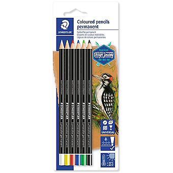 Staedtler design Journey permanent färgning blyertspennor förpackning med 6