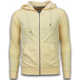 Casual Cardigan-Melange Zen Fleece-Yellow