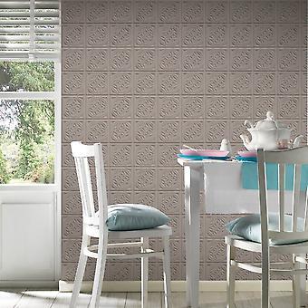 A.S. creatie als creatie Oslo tegel patroon behang faux effect Art Deco keuken badkamer 329803