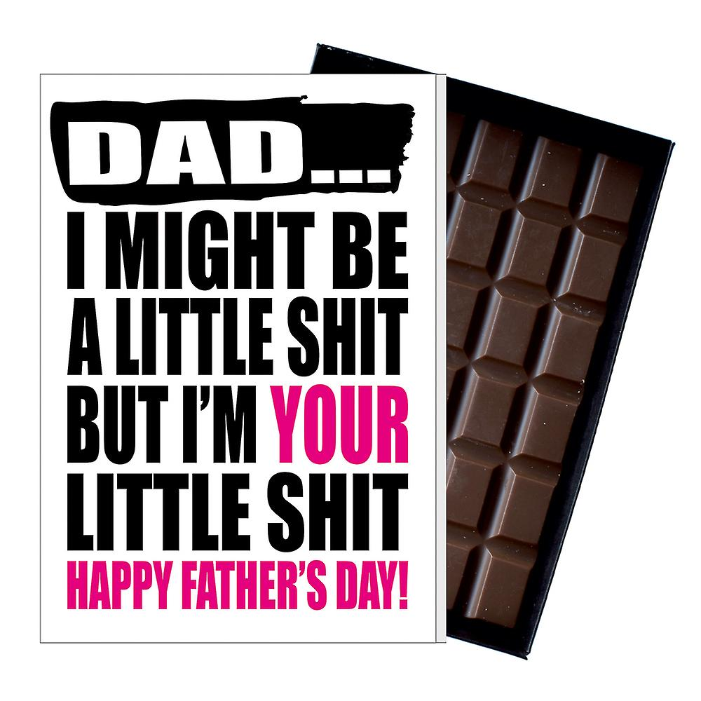 Funny Father's Day Gift Silly Chocolate Present Rude Card For Dad DADIYF123