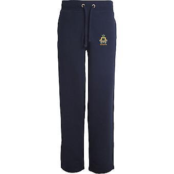 Royal Gibraltar Regiment Veteran - Licensed British Army Embroidered Open Hem Sweatpants / Jogging Bottoms
