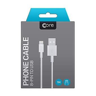 Core - 8 Pin To USB Cable - White - 1M