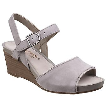 Hush Puppies Womens Cassale Buckle Ankle Strap Wedge Sandal
