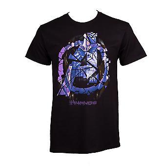 Thanos murtunut logo Avengers Endgame miesten ' s T-paita