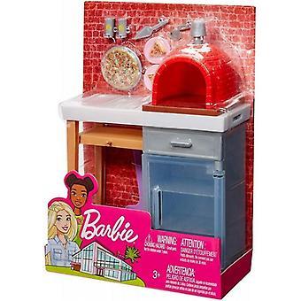 Barbie stor udendørs tilbehør sæt-pizza ovn