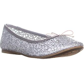 Adrianna Papell Shirley Bow Tie Ballet Flats, Srebro, 9 Stany Zjednoczone
