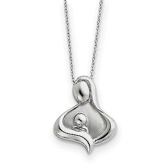 925 Sterling Silver Gift Boxed Spring Ring Rhodium verguld gepolijst en satijnketting 18 Inch Sieraden Geschenken voor vrouwen