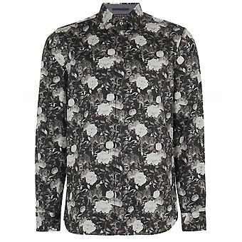 Ted Baker Monochrome Floral Stylo Shirt
