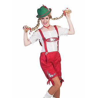 Oktoberfest Bayernshort Costume Costume Femme Costume Pantalon Femme Costume Wiesn Carnival Carnival Fête thématique