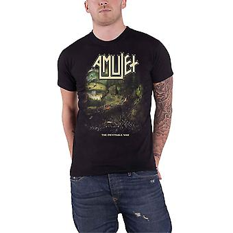 Amulet T Shirt The Inevitable War Band Logo new Official Mens Black