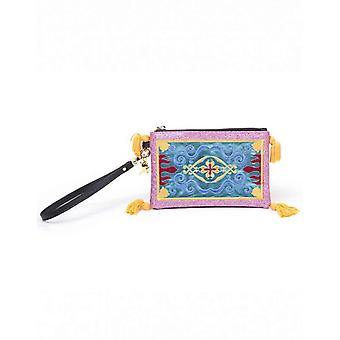 Aladdin Purse Pouch Magic Carpet Logo new Official Disney Zip Around