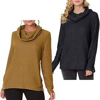 Animal Womens Roller Long Sleeve Roll Neck Fleece Warm Jumper Sweater Top