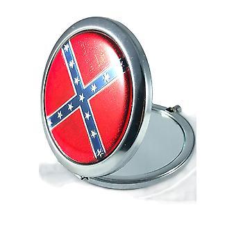Round Rebel Flag Pocket Mirror Confederate Southern Pride Souvenir Gift