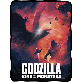Blanket - Godzilla - King of The Monsters Throw Fleece New cfbf-gdz-batl