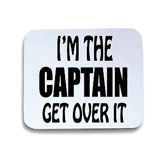 Tappetino mouse pad bianco fun2127 im the captain get over